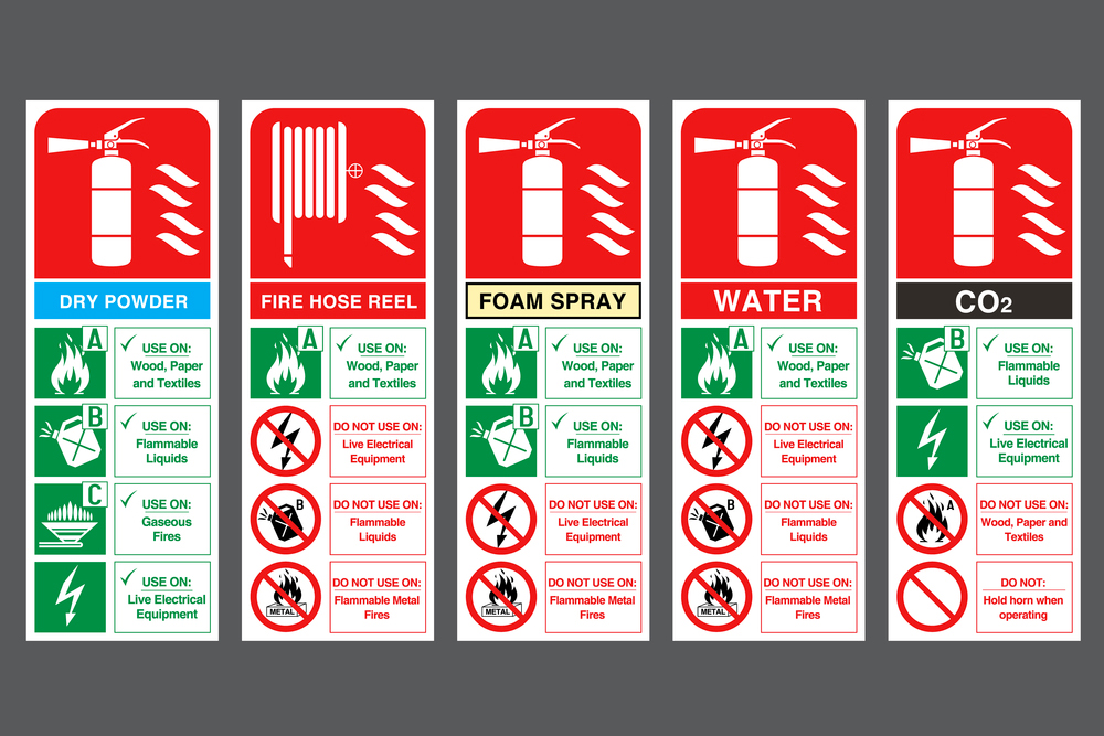 Étiquette d'extincteur incendie